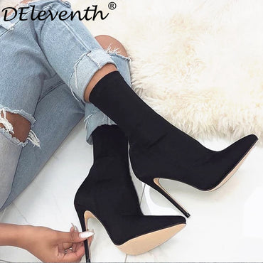 Carson Pointed Toe Pointy Stiletto High Heels Boots