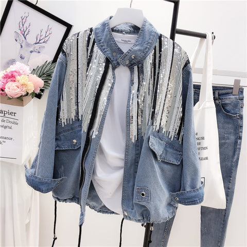 Long Sleeves Vintage Hippie Denim Jackets