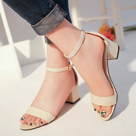 Fish Mouth Suede T tied Sandals