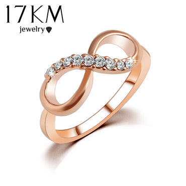 Alloy Rose Gold Color Jewelry Zircon Ring