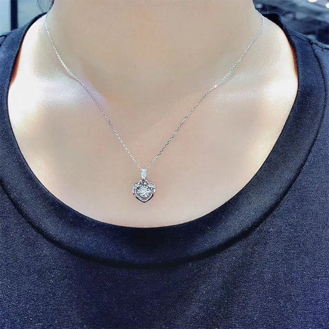 Solid White Gold Pendant Necklace