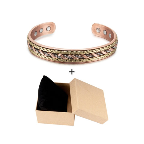 Energy Magnetic Copper Twisted Wide Bracelets & Bangles