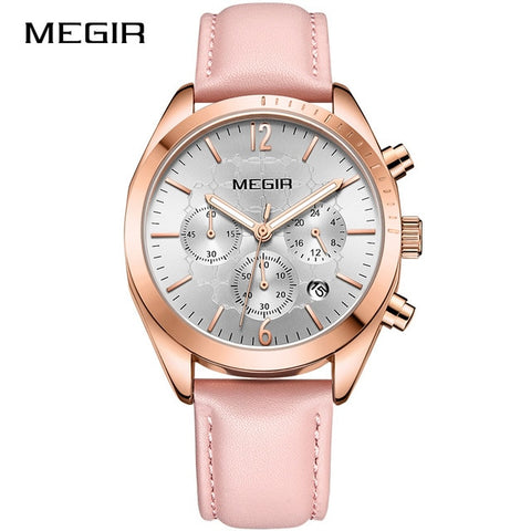 Luxury Genuine Leather Casual Waterproof Analog Watches