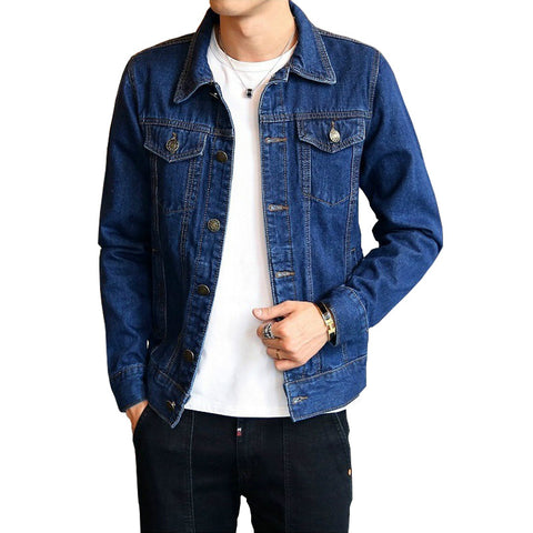 Dark Blue Black Clothing Denim Jacket
