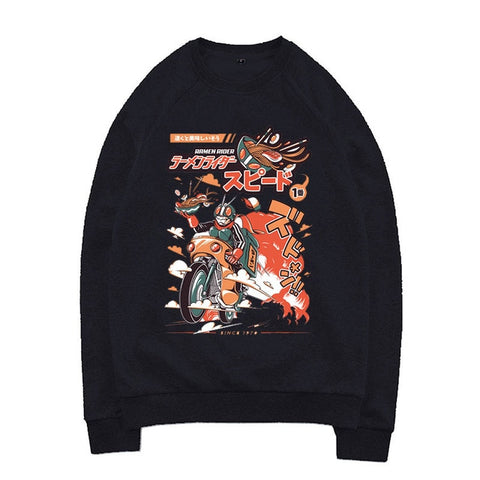 cotton Ramen Rider Cartoon Streetwear Casual Sweatshirts