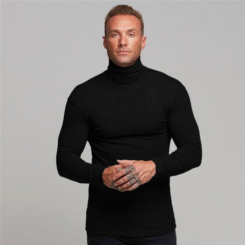 Turtleneck Slim Fit Classic Sweaters