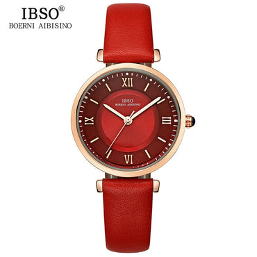 Green Genuine Leather Strap Luxury Watch