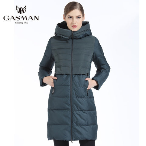 Slim Long Thick Down Parka Coat