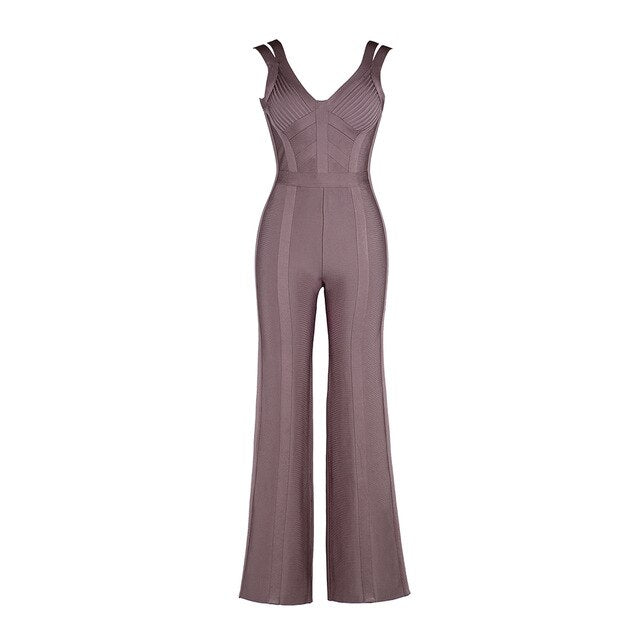 Sexy Sleeveless Boot Cut Jumpsuit