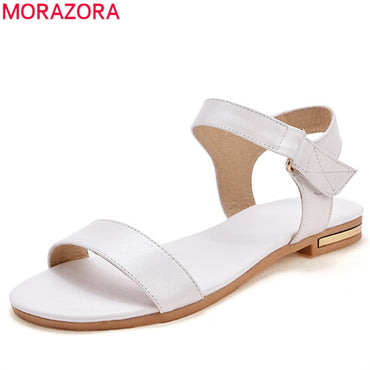 genuine leather solid colors comfortable casual Sandals