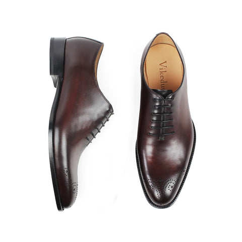 Vintage Genuine Leather Oxford Shoes
