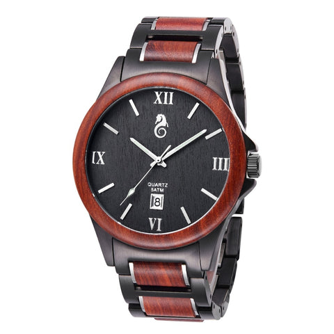 Black red Wood Watches