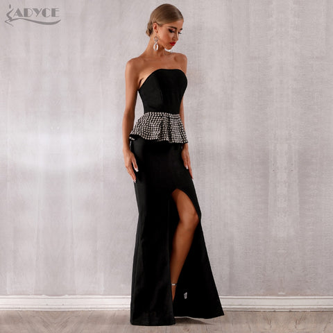 Black Strapless Maxi Dresses