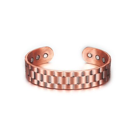 Vintage Pure Copper Adjustable Wide Cuff Bracelets Bangles