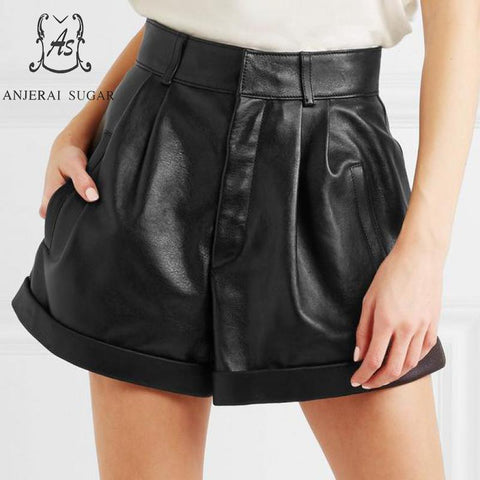 Sheepskin Genuine leather shorts