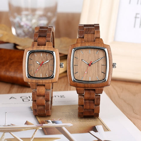 Bamboo Chic Retro Walnut Wood Watches