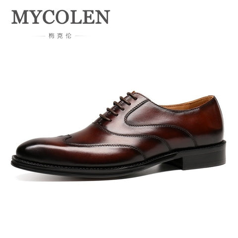 Luxury Fashion Leather Oxford Shoes