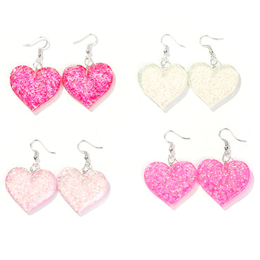 Craft Glitter Hearth and star Drop Earrings