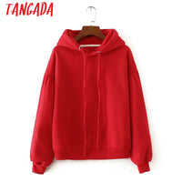 Fleece Oversized Red Hoodie