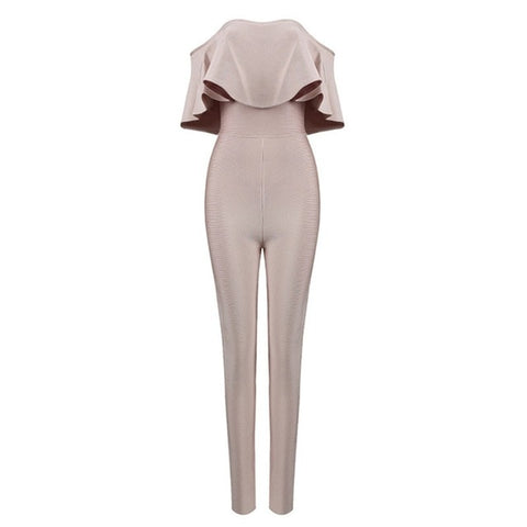 Ruffles Design Sleeveless Sexy casual Jumpsuits