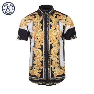Hawaiian Style Floral Unique Medusa 3D Print Luxury Short Sleeve Shirts