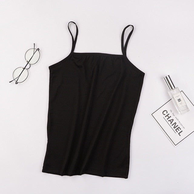 Sexy Camisoles Sleeveless Shirt Sexy Slim Crop Top