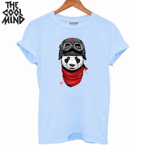 cotton panda print T shirt
