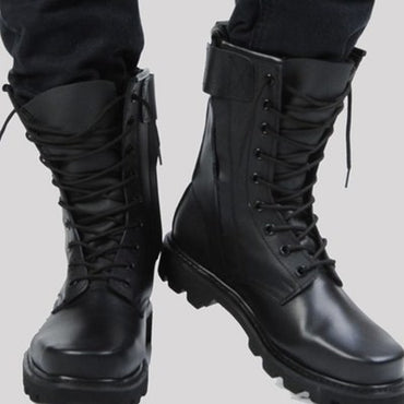 Steel Toe Microfiber Leather Military Boots