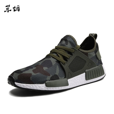 Casual Hombre Army Green Casual Camouflage Shoes