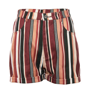 Rainbow Striped Boho Bohemian Shorts