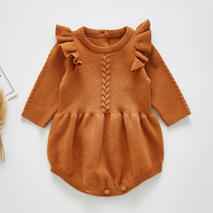 Knitted Romper - Braided Pattern