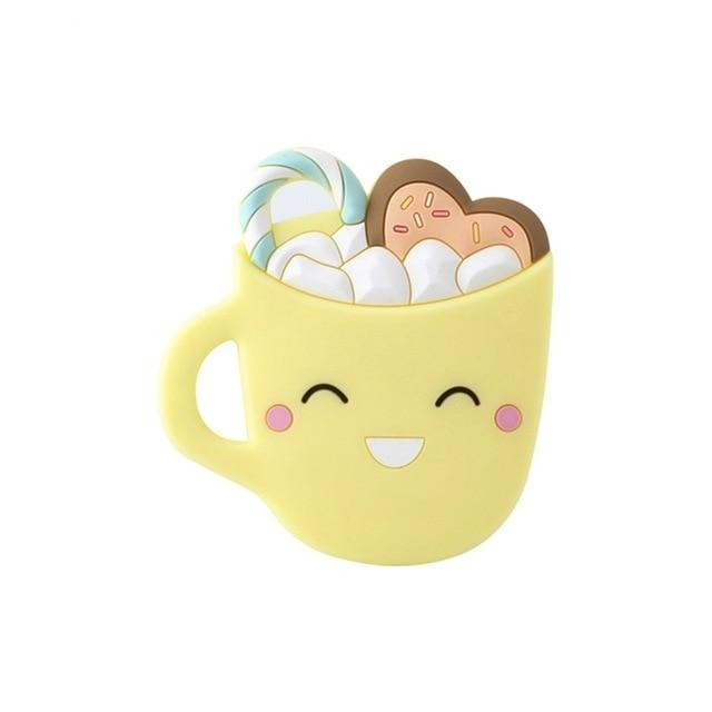Coffee Cup Smiley Teether