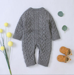 Knitted Baby Romper For Winters