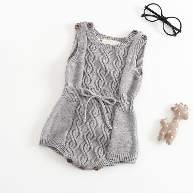 Plush Knitted Romper