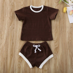 Ribbed T-shirts & Shorts set for Babies and Toddlers