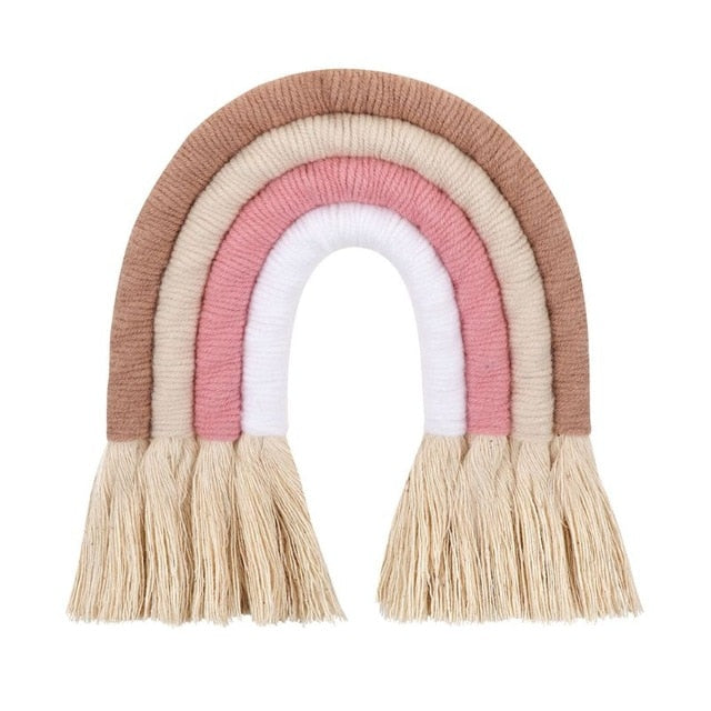 Nordic Woven Rainbow Wall Hanging - Pastel