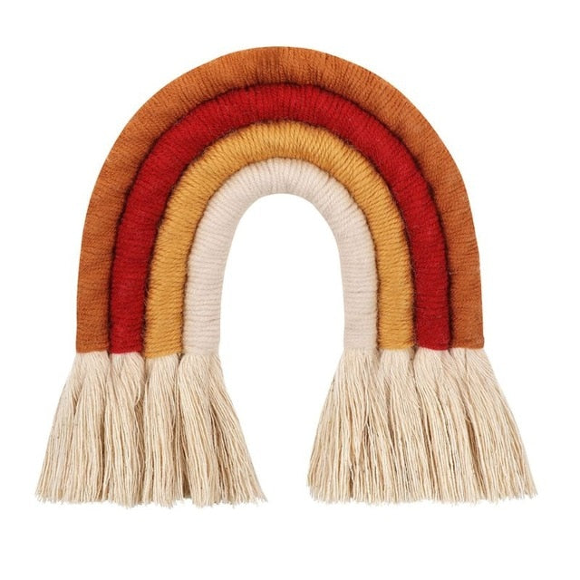 Nordic Woven Rainbow Wall Hanging - Autumn