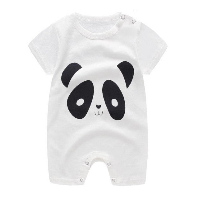 1-piece cotton romper - Panda