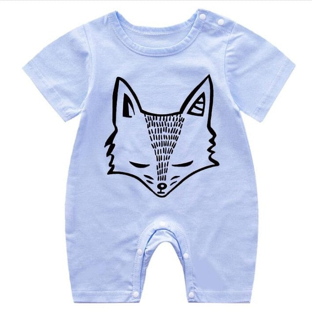 1-piece cotton romper - Fox