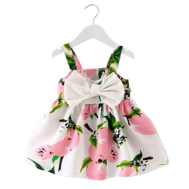 Baby Girl Lemon Dress With Bow