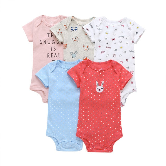 5-pack baby bodysuit set - Bunbun