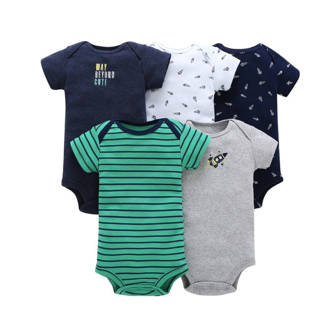 5-pack baby bodysuit set - Rockets