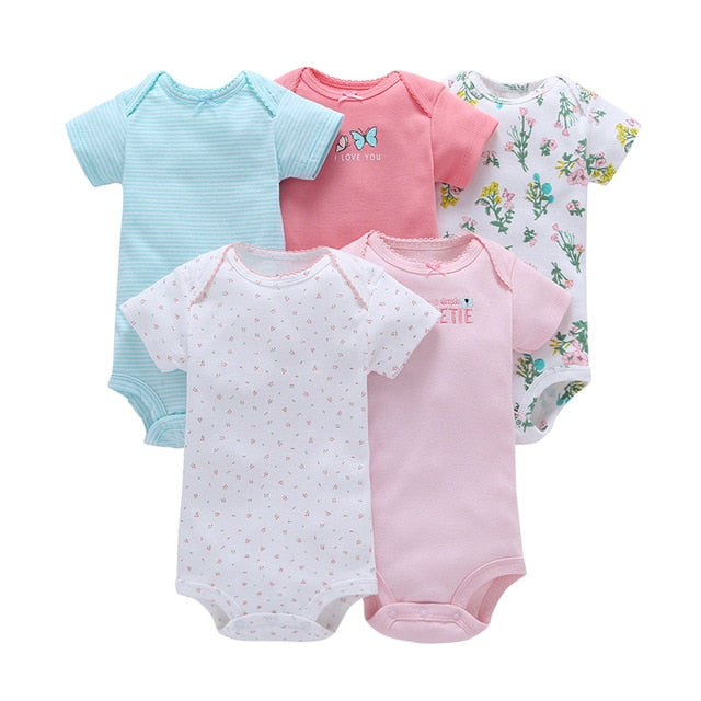 5-pack baby bodysuit set - Ava