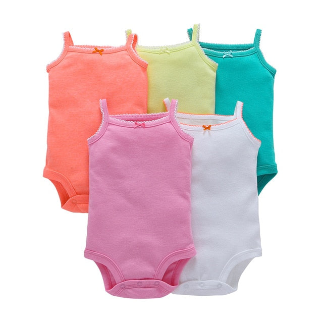 5-pack baby bodysuit set - Solid