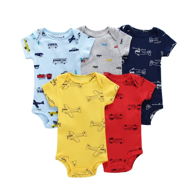 5-pack baby bodysuit set - Drive & Fly