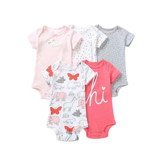 5-pack baby bodysuit set - Hi!