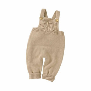 Knitted Sleeveless Jumpsuit and Cap for Babies & Toddlers