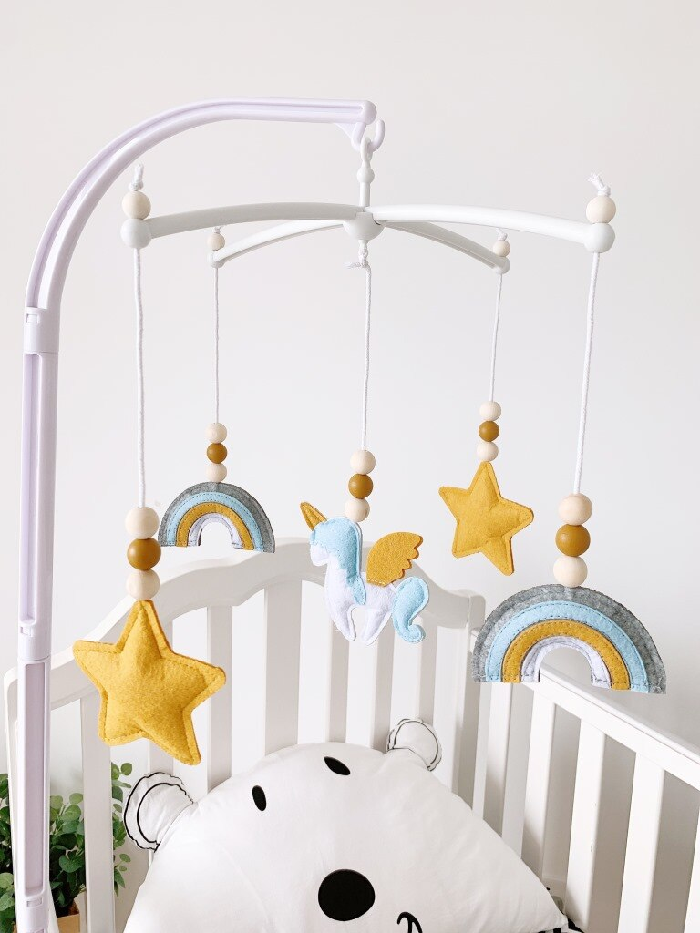 Stars & Rainbows Hanging Crib Mobile