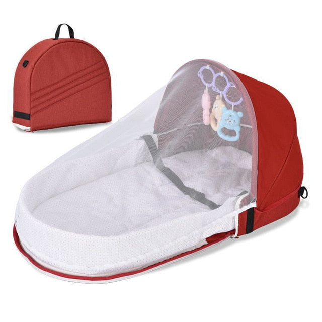 Portable sleeping baby bed with net