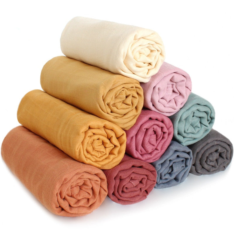 70% Bamboo + 30% Cotton Blanket Muslin Swaddle 120x120cm